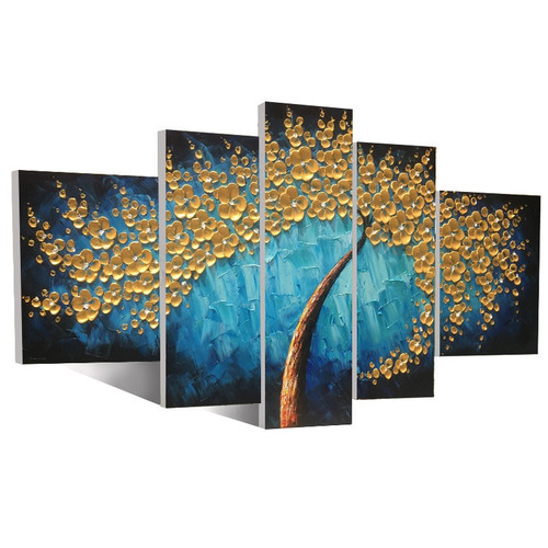 5 pictures indoor living room house dining room bedroom decoration painting wall art modern hand painted oil painting