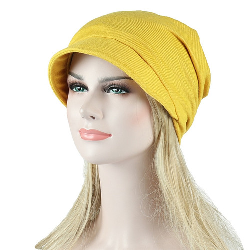 Autumn Cotton Hat Visor for Women Winter Beanie Korean Style Solid Chemo Hat Spring Travel Cap Fishermen Hat Breathable