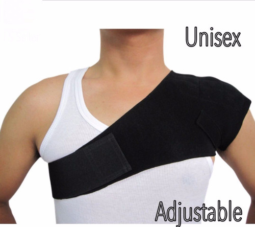 1Pc Single Shoulder Support Bandage Fitness Brace Gym Product Tennis Sport Training Equipment Shoulder Belt Left Shoulder