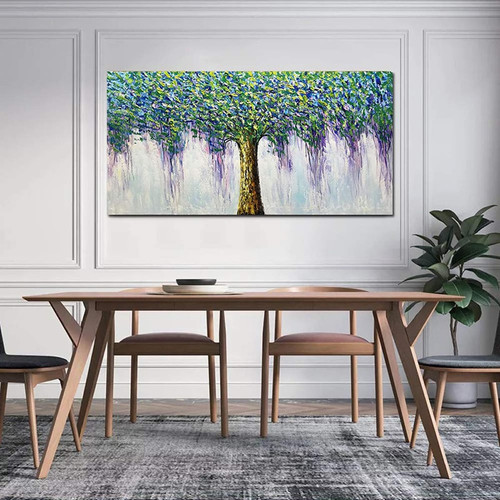 Lucky tree big tree large size mural art hand-painted modern oil painting canvas painting to the living room dining room bedroom