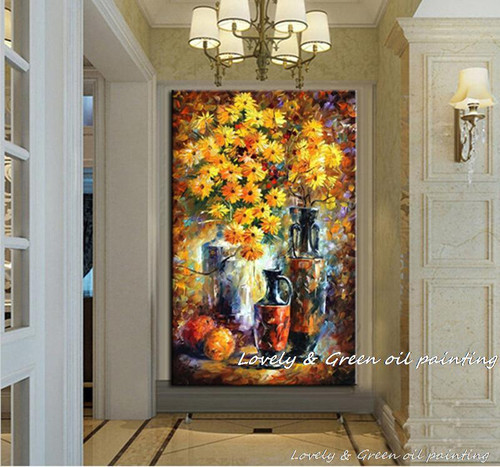 100%Hand Painted modern Abstract Art Decor palette knife flower oil painting Wall Decoration Picture On Canvas For Home Unframed