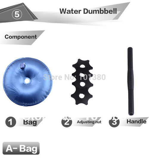 water poured dumbbell
