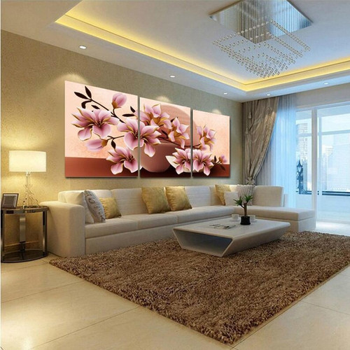 No Frame Orchid Wall Painting Flower Canvas Painting Home Decoration Pictures Wall Pictures For Living Room Modular Pictures