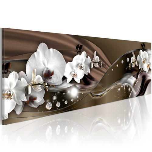 Modern Printed Pictures Office Home Decor 1 Piece White Orchids Blossom Painting For Living Room Flowers Canvas Poster Wall Art