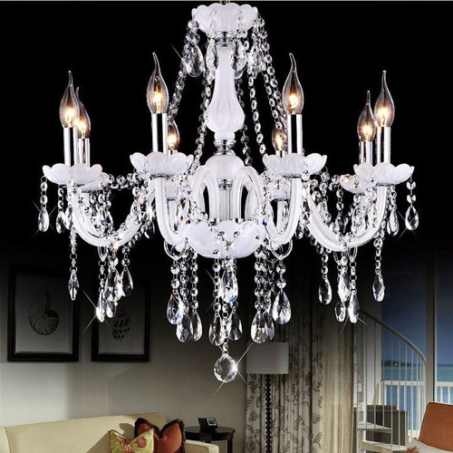 Eurpean crystal candle LED chandelier livingroom suspended lamps restaurant lighit bedroom lighthing villa home deco fixtures