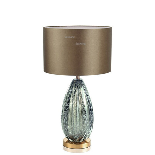 Modern Home Deco Dark Green Glass Table Lamps For The Bedroom Table Lamp Shade Fabric Bedside LED Light Fixtures Desk Lamp