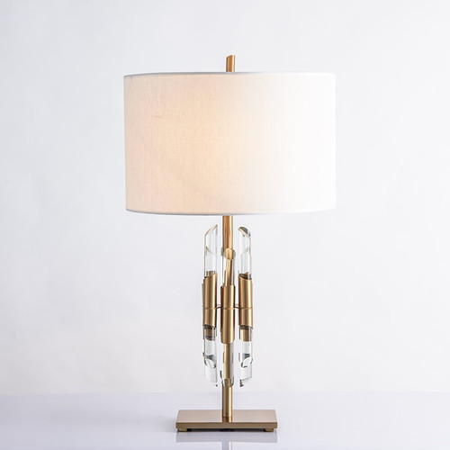 Modern Nordic Gold Crystal Glass Bedside Table Lamps For Pedestal Table The Bedroom Living Room Home Deco