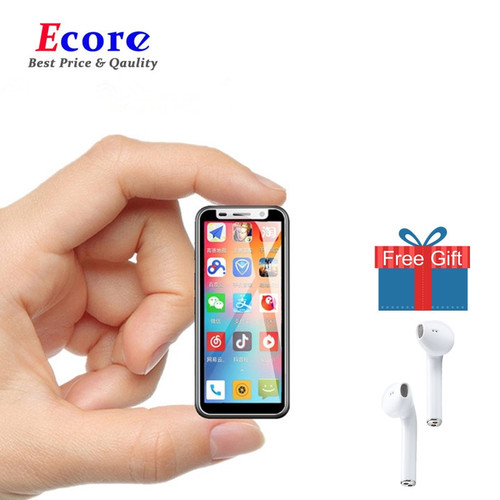 Melrose 2019 Mini Smartphone Ultra Slim 3.4'' MTK6739V Dual Sim Mobile Phone Android 8.1 Fingerprint ID 5MP 4G Cell Phones