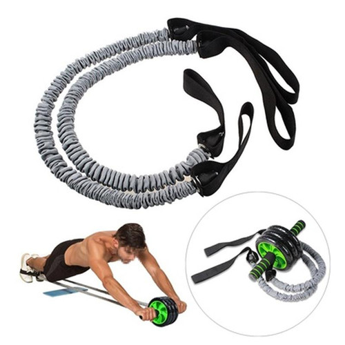 Forfar 1 Pair Latex Fitness Exercise Stretch Pull Ropes Abdominal Wheel Accessories for Exercise Fitness Equipment Accessory