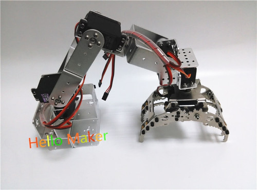 Hello Maker H415 Abb Industrial Robot Mechanical Arm 100% Alloy Six degrees of freedom Robot Arm Rack with 6 Servos