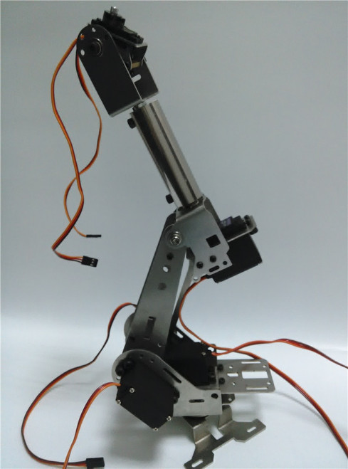 Hello Maker H675 Industrial Robot Mechanical Arm 100% Alloy Six degrees of freedom Robot Arm Rack with 6 Servos