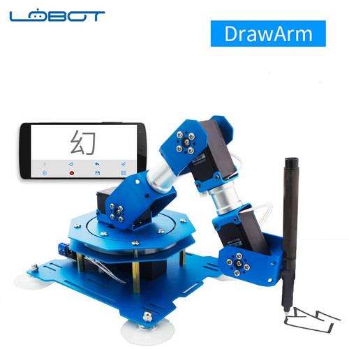 Industrial Robot Servo Arm DrawArm Writing Drawing Writing APP Bluetooth Remote control RC Parts Robot