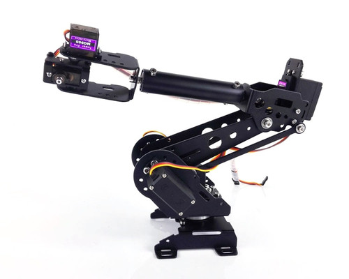New Version DIY 6DOF ABB Robot Arm A4N, 6Axis,high torque servo,Mechanical industrial robot arm Development,For DIY Design