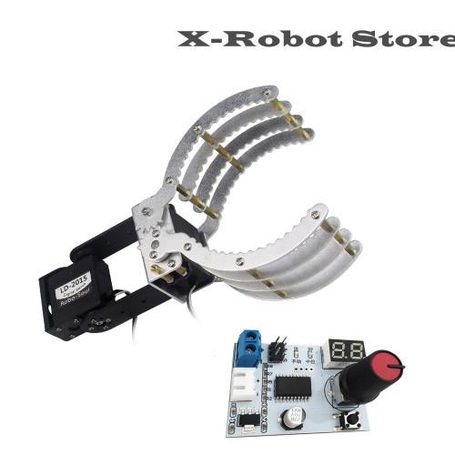 Industrial robot arm / clip / claw robot DIY accessories with 19G LDX-335MG digital servo robot toy drone + servo tester