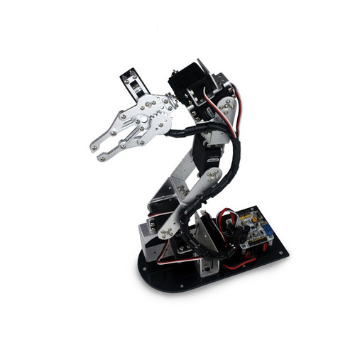 Industrial Robot 625 Mechanical Arm 100% Alloy Manipulator 6 Degree Robot arm Rack with 6Pcs LD-1501MG Servos + 1 Alloy Gripper