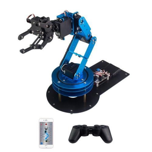 Industrial 6 DOF Robot Arduino Arm Unassembled with PS2 Handle Controller Remote Control RC Parts Robot
