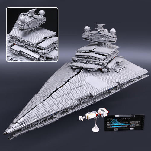 Star 05027 Wars Emperor Fighters Starship Destroyer Model Building Blocks Bricks Compatible with Lego 10030 75252 Kid Toys