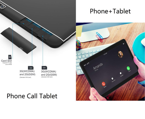 10.1 Inch Tablet Pc Android Tablet 1280*800 IPS 4GB+64GB Dual SIM 3G Tablet Quad Core Android 8.0 Bluetooth WiFi tablet 10.1