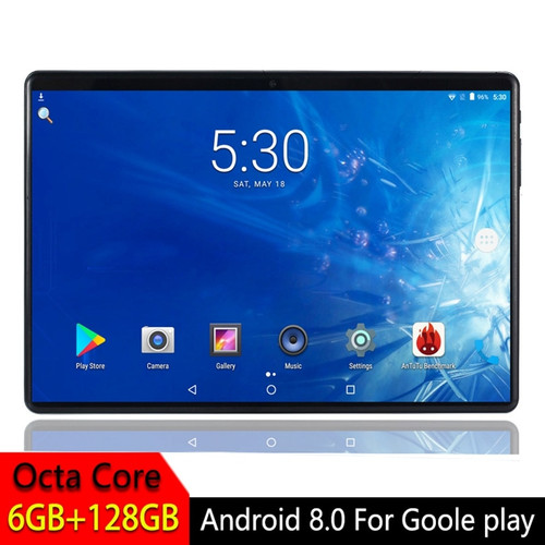 Android 8.0 Tablet PC 10.1 inch For Google Play 2.5D Tempered Glass Screen Octa Core SIM 3G 4G LTE WIFI GPS RAM 6GB 128GB Tablet
