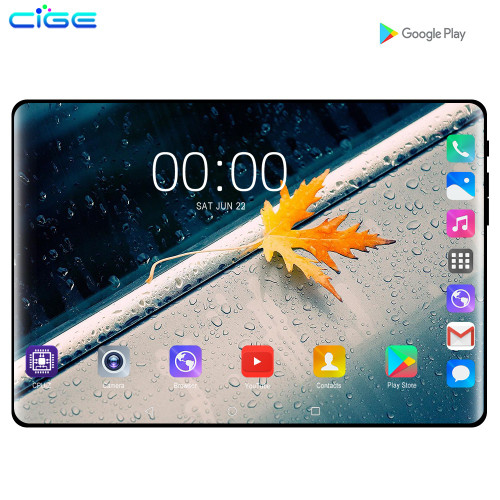 CiGe 10.1 inch Tablet PC Android 9.0 3G 4G Octa Core 6GB RAM 128GB ROM GPS FM Bluetooth Tablets Phone call 10 IPS 1280x800 Gifts
