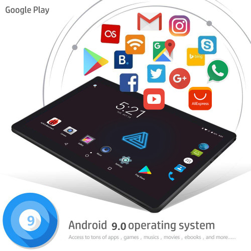 2.5 Multi-touch glass Google Android 9.0 Smart tablet pcs tablet pc 10.1 inch 10 core the tablet Ram 6GB Rom 128GB 2560X1600 8MP