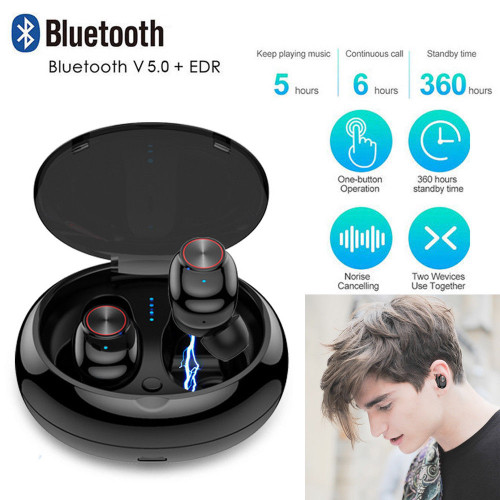 V5 TWS Earphone Waterproof Bluetooth 5.0 Headset Mini TWS Twins V5 Wireless earphone In-Ear Sport Stereo Earphones Earbuds