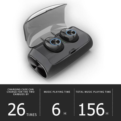 V6 TWS Mini Bluetooth 5.0 Earphone Stereo Headset Earbuds with Charging Box
