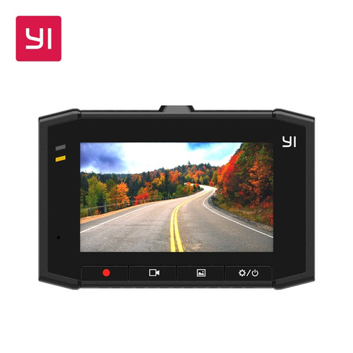 YI Ultra Dash Camera Recorder With 16G Card 140 Wide Angle Resolution Car DVR Dash Cam Voice Control sensor 2.7-inch Widescreen