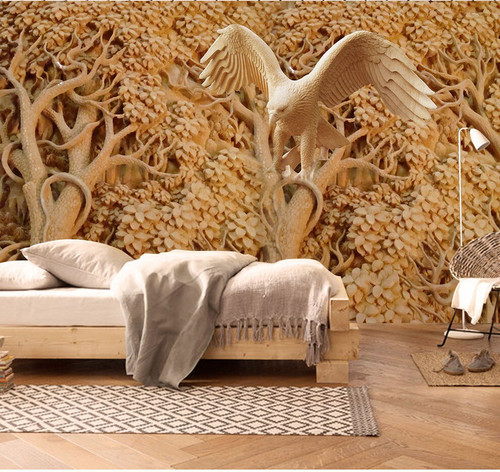 8d Stereoscopic Tiercel Trees Forest Wallpaper Murals 3d Wall Photo Mural for Bedroom 3d Wall Murals 3D Marble Wall paper