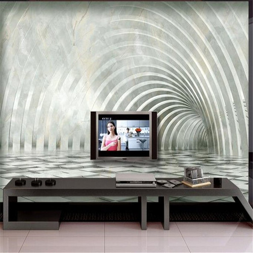 3D Steroscopic Wallpapers European Solid Photo Mural Luxurious Geometric Marble Walls Papers for Living Room Backdrop Home Decor