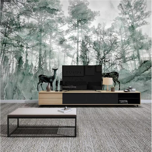 beibehang Custom wallpaper papel de parede 3D photo mural Nordic forest elk dream marbled TV background wall paper painting 3d