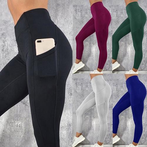 Laamei Fitness Women Leggings Push up Women High Waist Pocket Workout Leggins 2019 Fashion Casual Leggings Mujer Long Pants 1