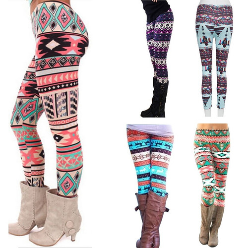 2PCS/lot Women's Autumn Leggings Girl Winter Legging Bottoms Snowflake Christmas Deer Print Leggings Women Clothing Jeggings