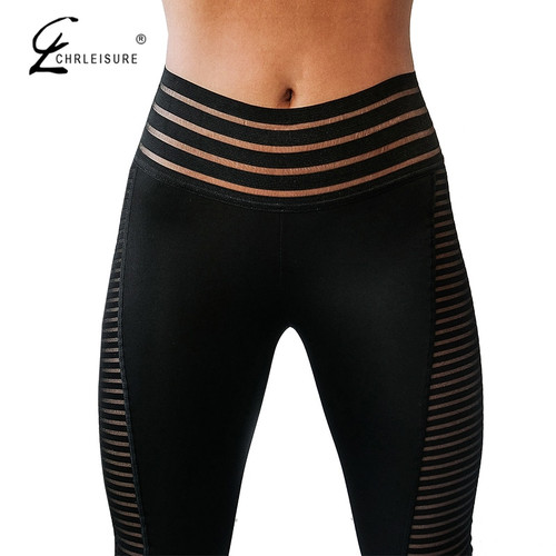 CHRLEISURE Women Leggings Push Up Workout Leggings Mujer High Waist Sportswear Women Black Elastic Leggings Women