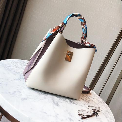 SWDF Luxury Handbags Scarf Decoration Designer Brand Shoulder Bags Ladies SAC A Main Lady Bolsa Bucket Women Bags Trend Handbag