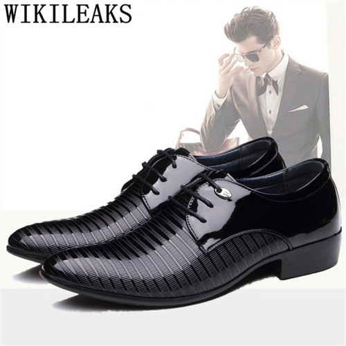 Pointed Toe derby shoes men formal shoes leather black derbi dress shoes men chaussure homme luxe sapato oxford masculino charol