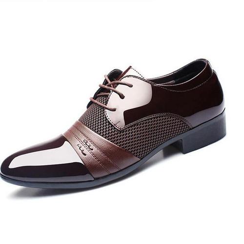 mens pointed toe dress shoes zapatos hombre Patent Leather shoes men formal shoes designer luxury brand gelinlik wedding shoes