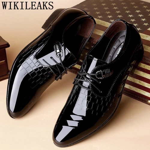 patent leather black oxford shoes for men crocodile skin shoes men wedding shoes formal mens pointed toe dress shoes italy derby