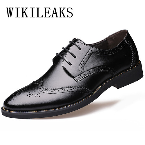 italian mens shoes brands oxford shoes for men zapatos hombre mens pointed toe dress shoes genuine leather formal brogues men