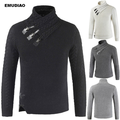 Turtleneck Sweater Men Long Sleeve Knitted Pullovers 2019 Autumn Winter Soft Warm Basic Man Sweaters Streetwear Sueter Clothes