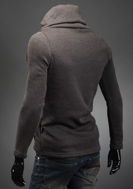 Zogaa Brand New mens pullovers solid color thin wool sweater turtleneck plus size sweater men's fashion Thermal long sleeve