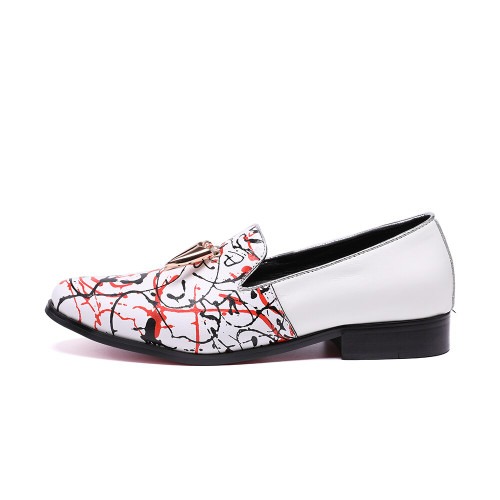 Christia Bella Brand Designer New High-end Graffiti Printing Men Shoes Luxury Fashion Men Loafers Men's Flats Size Plus Size 47