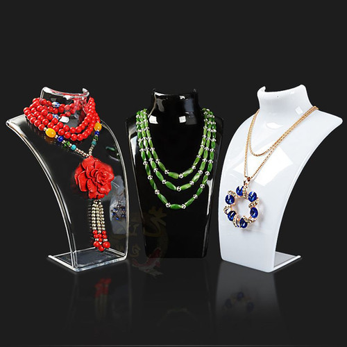 Hot Sale Three Colors 20*13.5*7.3CM Mannequin Necklace Jewelry Pendant Display Stand Holder Show Decorate Jewelry Display Shelf