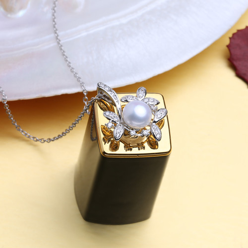 FENASY Bohemian  Ruby Necklace Pearl Jewelry necklaces & pendants flower Jewelry,necklace women 925 silver necklace for women