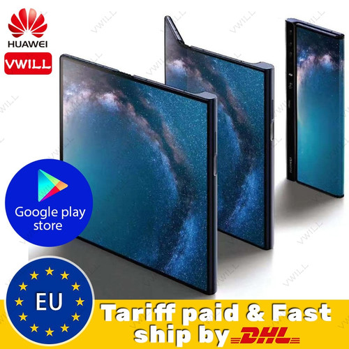 Original HUAWEI Mate X 5G Mobile Phone Folded Screen 8GB 512GB Kirin 980 Balong 5000 Fingerprint Google play