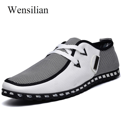 Summer Loafers Men Casual Shoes Fashion Slip On Sneakers Men Flats Driving Shoes PLUS SIZE 38-47 Trainers Zapatos Hombre Casual