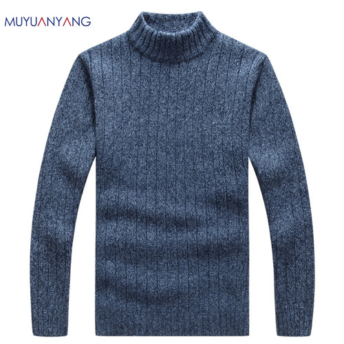 2019 Winter Men's Pullover Sweater Casual Soft and Comfortable Pullover Sweater Coat Thick Warm Hand-knitted Men's Sweater