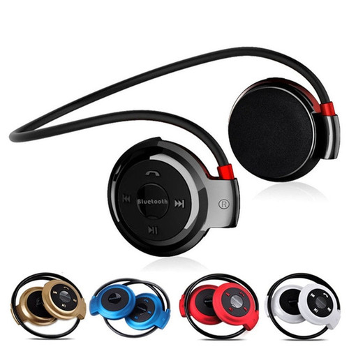JQAIQ Neckband Wireless Bluetooth Headset Earphone Handsfree With Mic Sport Stereo Earphones Support Tf Card For Mp3 Player