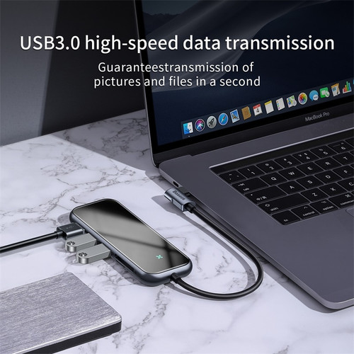 Baseus USB Type C HUB to HDMI RJ45 Multi USB 3.0 USB3.0 Power Adapter For MacBook Pro Air Dock 3 Port USB-C USB HUB Splitter Hab