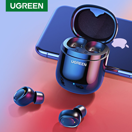 Ugreen Bluetooth Earphone 5.0 TWS True Wireless Earbuds Stereo Headphones Handsfree in Ear Phone Gaming Sport Headset